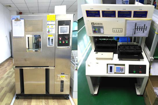 恒温恒湿箱(左)、遥控测试机(右)